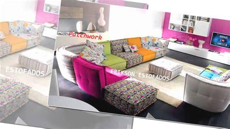 sofas para sala estofados em patchwork decora 231 227 o youtube