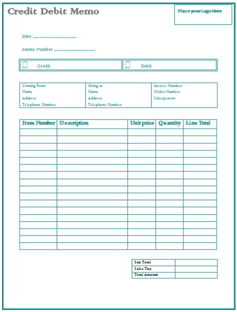 Credit Note Template On Word Credit Memo Template Microsoft Word Templates