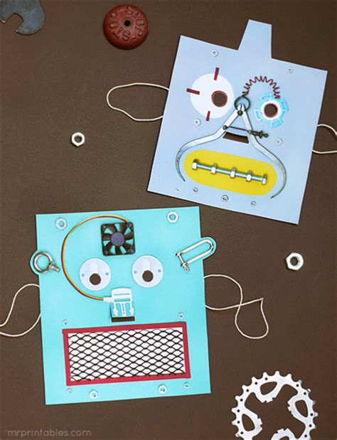printable robot mask printable robot masks mr printables