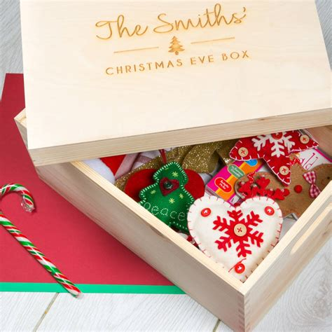 personalised large christmas eve box for family by dust