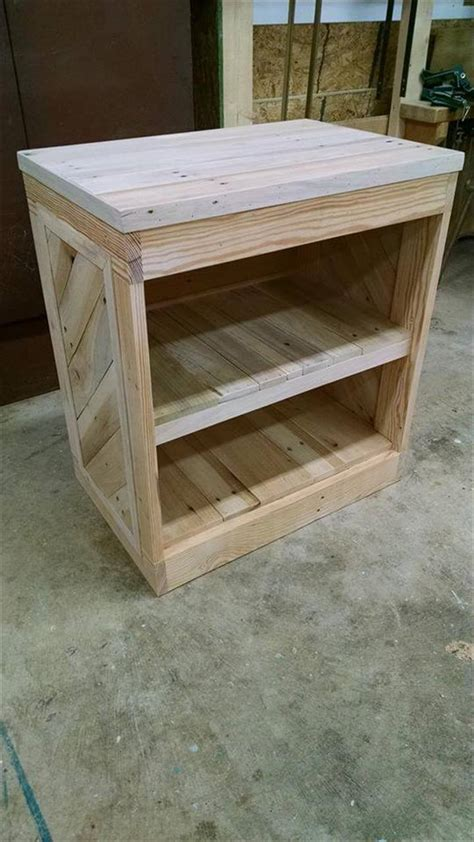 diy bed table diy pallet nightstand or side table
