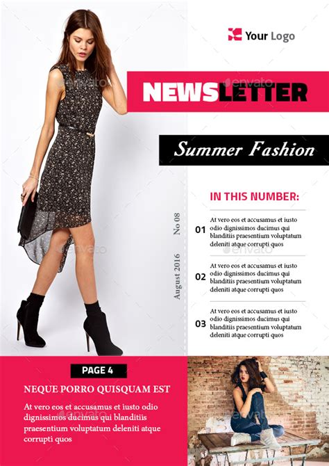 fashion newsletter templates fashion newsletter template by magic reflection graphicriver