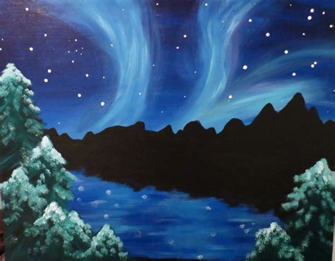 Northern Lights Painting I Am Going To Paint Northern Lights At Pinot S Palette