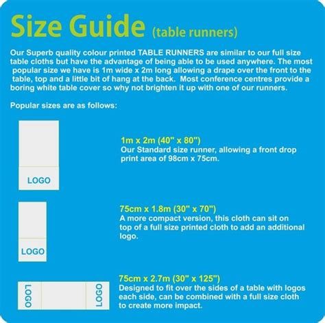 table runner size guide printed runner size guide by marsh mill