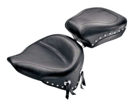 Wide Seat by Mustang Wide Seat For Harley Softail 1984 1999 Revzilla