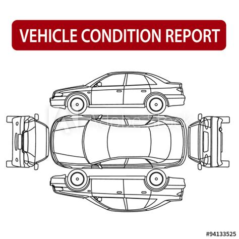 car damage report template car condition report vehicle checklist auto damage