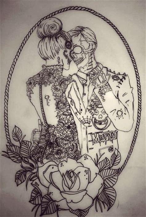 sick couple tattoos sugar skull skulls