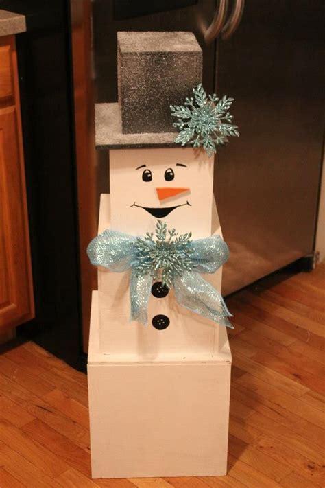 diy snowman    stackable boxes office christmas decorations snowman christmas