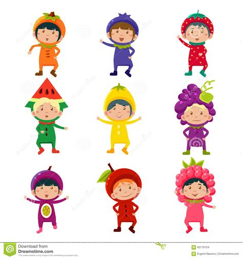 fancy dressed animals a collection of illustrations books in fruit and berry costumes vector stock vector