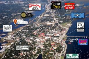 st augustine florida attractions map historic district attractions st augustine fl aerial view
