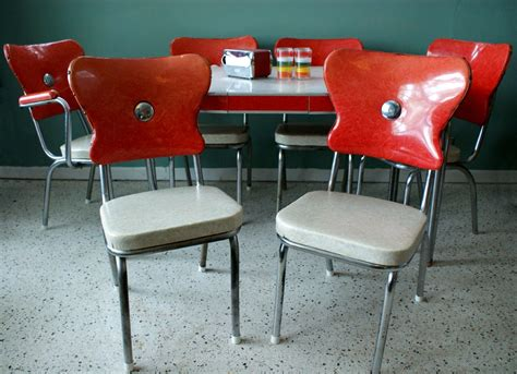 vintage kitchen furniture vintage 1950s red kitchen diner table set with 6 chairs