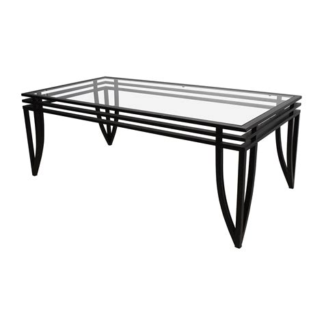 Coffee Table And Chairs 77 Furniture Furniture Rectangular Glass And Black Coffee Table Tables