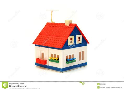 house of toys small house constructed of toy blocks royalty free stock images image 9565599