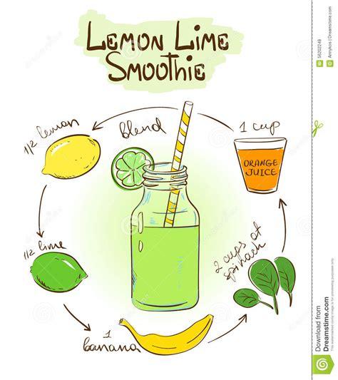 Lemon Lime Detox Smoothie Recipe by Sketch Lemon Lime Smoothie Recipe Stock Vector Image