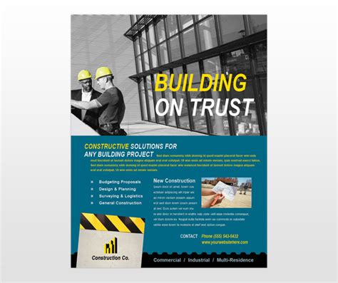 construction flyer templates 14 industrial poster psd template images environmental