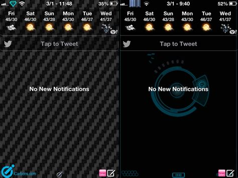themes for notification center interface notification center theme si icarbons