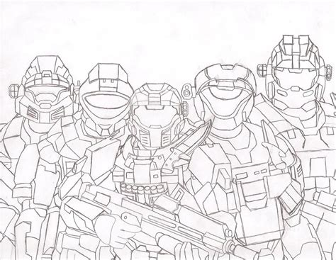 Halo 6 Coloring Pages by Halo Reach Coloring Noble Team Pages Grig3 Org