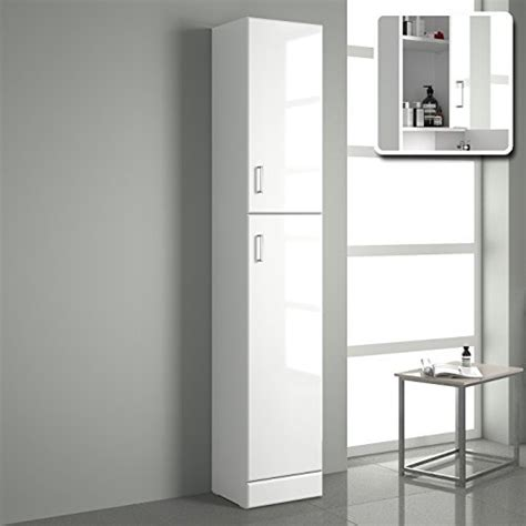 tall bathroom storage cabinets white tall gloss white bathroom cupboard reversible storage