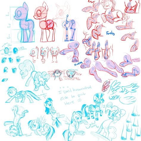 Drawing Guide Equestria Daily Mlp Stuff Pony Drawing Guides Lots Of