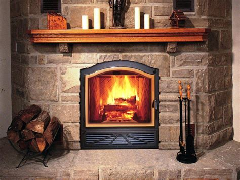 zero clearance wood burning fireplace insert home
