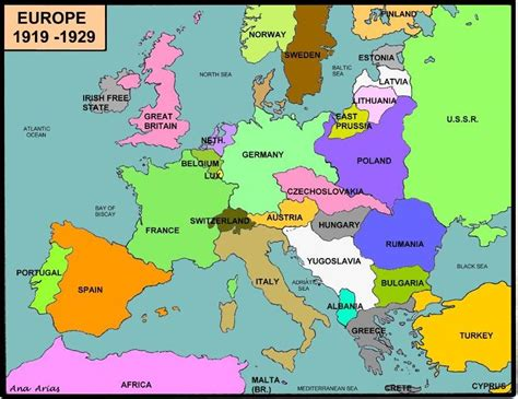 europe map 1919 cpi tino grand 237 o bilingual sections map competition