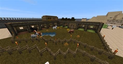 Cool Shed Ideas by Horse Stable Creative Mode Minecraft Java Edition