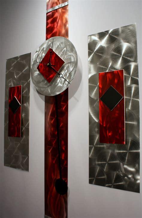 abstract metal wall decor metal wall sculpture pendulum clock modern abstract