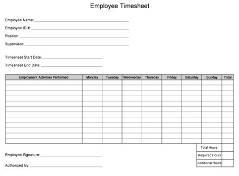 printable time sheets new calendar template site