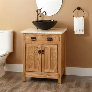 24 quot mission hardwood vessel sink vanity bathroom