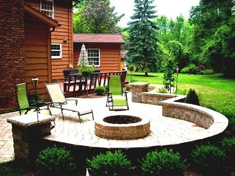 size of patio design awesome paver pit ideas