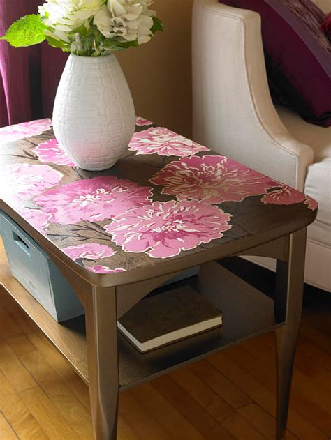 Decoupage Furniture With Wallpaper - inspiration to decoupage furniture