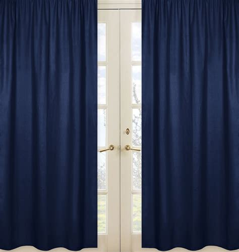 curtains navy blue sweet jojo designs solid navy window panels for navy blue