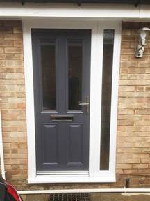 altmore composite door design with simple clear glass in