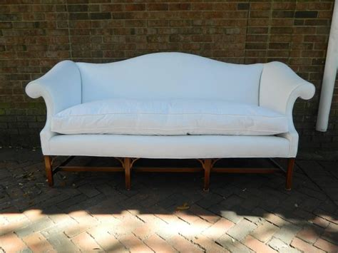Chippendale Style Camelback Upholstered Sofa Late 19th