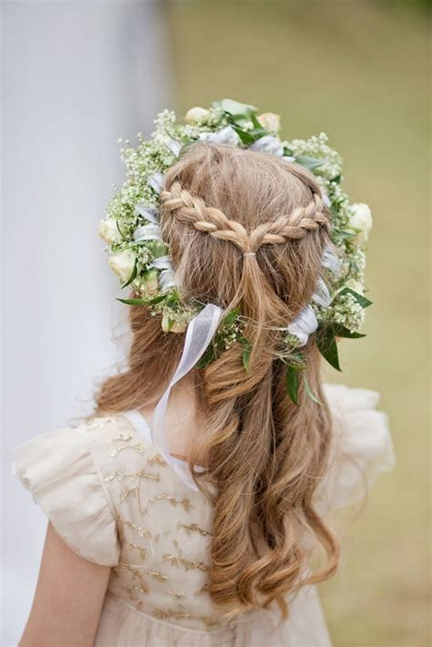 flower girl braided hairstyles for weddings 15 gorgeous flower girl hairstyles brit co
