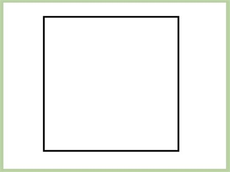 How To Make A Square In A Square Quilt Block by How To Make A Square On Microsoft Paint 8 Steps