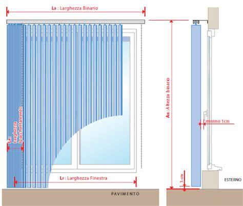 tende misure come prendere le misure di una tenda a bande verticali