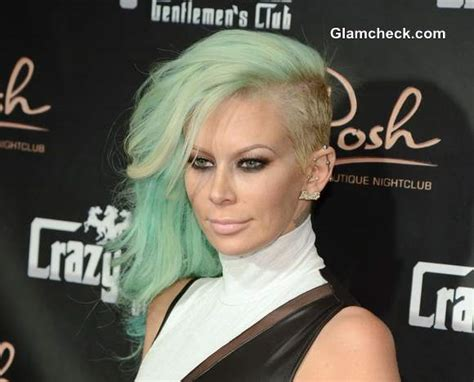 jenna jameson celebrates birthday with sea foam green hair color jenna jameson celebrates birthday with sea foam green hair