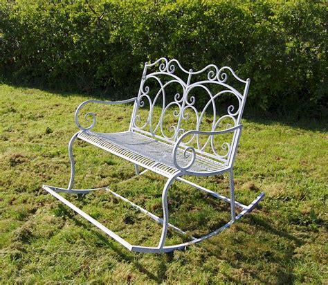 rocking garden bench grey garden rocker steel garden rocking chair garden