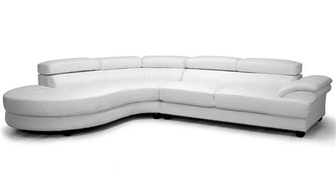 image white leather sectional sofa with chaise