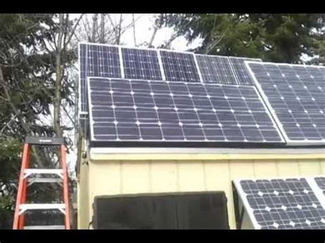 Solar Panel For Shed by Solar Shed Back Feed Solar Panel Grid Tie Inverter Update