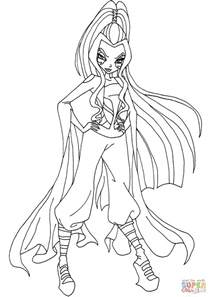 coloring pages winx club darcy winx club coloring page free printable coloring pages