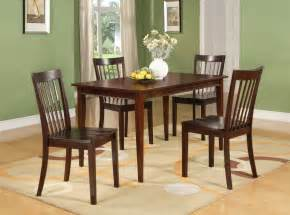 cherry finish wood dining room kitchen rectangular table 4