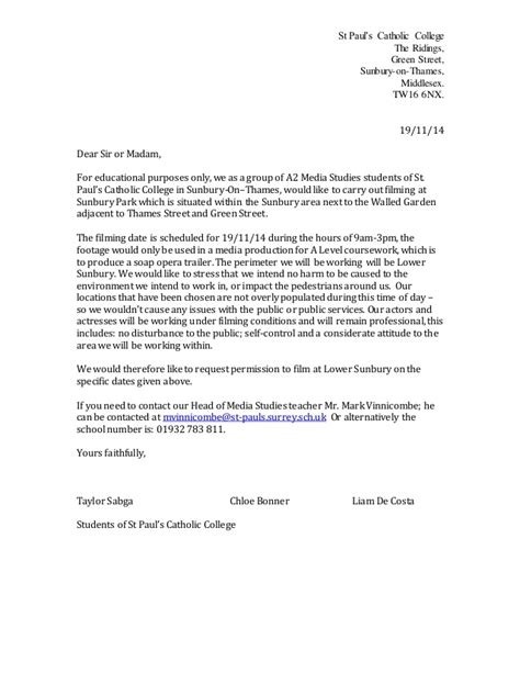Authorization Letter Council letter to the council permission to