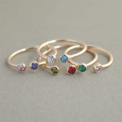 Birthstone Rings by 301 Moved Permanently
