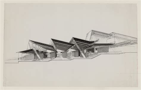 section perspective drawing a selection of paul rudolph s perspective sections socks