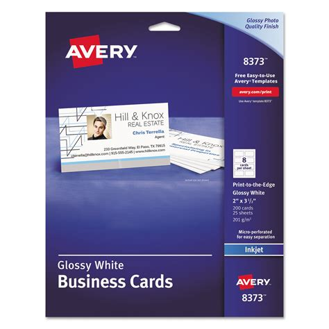 business card template free 8 1 2 x 11 paper print to the edge microperf business cards by avery