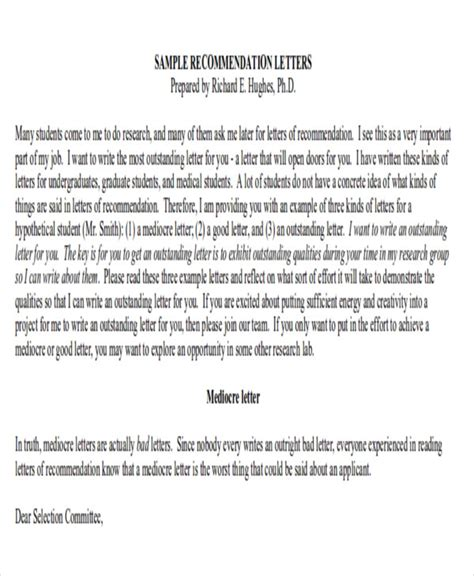Recommendation Letter Template Doctor Sle Physician Letter Of Recommendation 7 Exles In Word Pdf