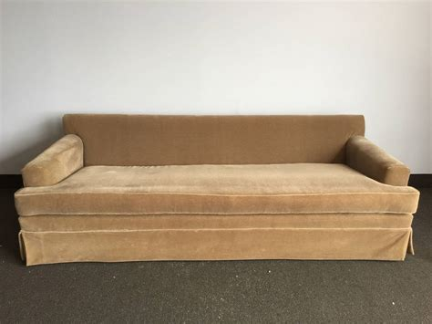 extra long sectional extra long classic jmf style mohair sofa for sale at 1stdibs