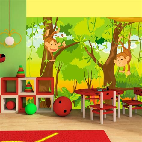 Tapisserie Chambre D Enfant by Papier Peint Pour Chambre D Enfant Jungle Et Singes